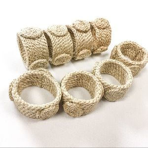 Woven Country Chic Napkin Rings